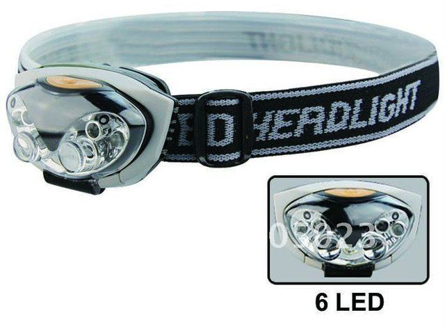 10 pcs/lot Wholesale High Quality Waterproof  LED headlamp for climbing/fishing/running 6526 headlight