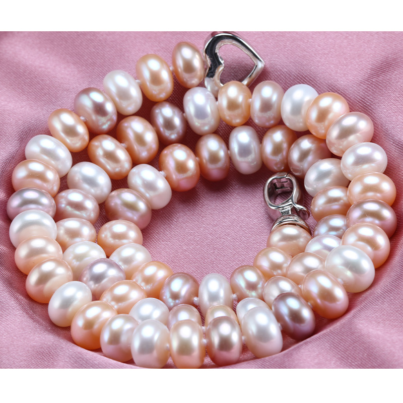 Lowest Price Pearl Necklace AAAA High Quality Pearl Jewelry Gift for Mother 9-10mm Pearl Collier bijouterie Necklace Female(China (Mainland))