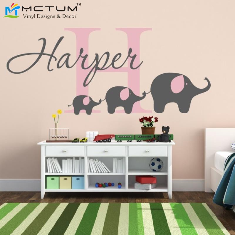 elephant wall decal custom name removable nursery wall custom scripture vinyl wall decal sticker from trendy wall