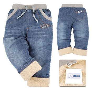 New Brand Children clothing Thick Winter Warm Cashmere Kids clothes Pants Boys/Girls Winter Jeans Trousers