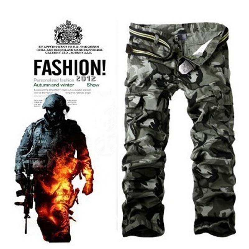 New Arrival High Quality Men's Camouflage Casual Cargo Pants Military Camo Multi-Pocket Outdoor Pants For Men Pantalones Hombre(China (Mainland))