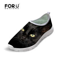 Fashion Brand Spring/Summer Women Light Breathbale Mesh Casual Shoes,Cute 3d Animals Dog Cat Flats Shoes Womens Zapatillas Mujer