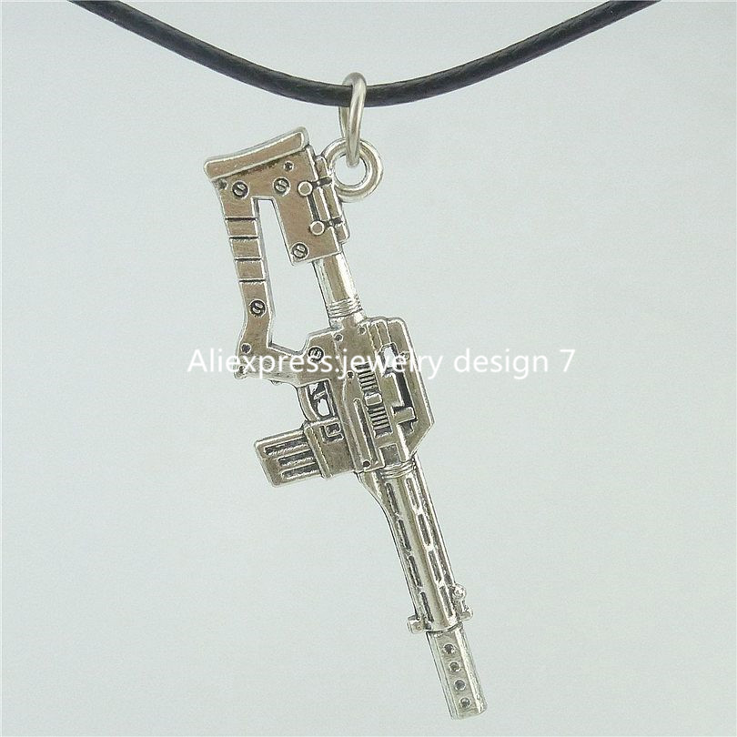 "Free Shipping 16585 M14 Rifle Gun Pendant Military & Weaponry 17"" Collar Choker Short Necklace 16507(China (Mainland))"
