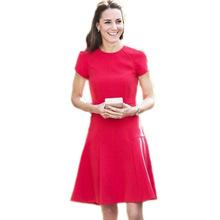 Buy High ! Kate Middleton Dress 2016 New Spring Autumn Red O-Neck Short-Sleeved OL Slim Dresses Women Vestidos for $52.24 in AliExpress store
