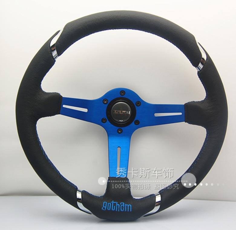 Free Shipping modified momo steering wheel / leather steering wheel modification / 14 inch Racing Wheel(China (Mainland))