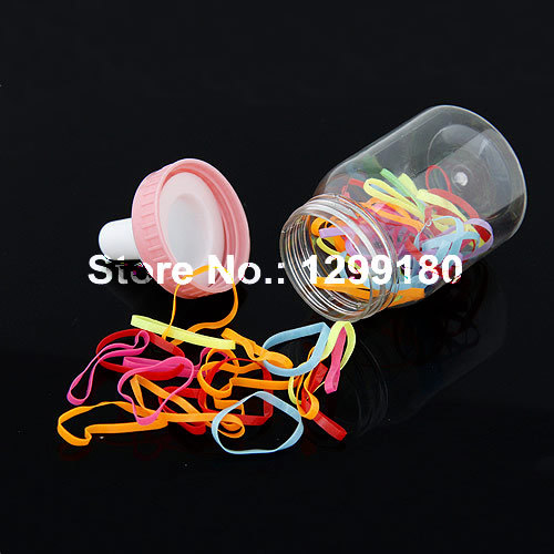 5 bottles/lot Hot Sale Elastic Hair Rubber Band Mix Colors Kids Girls Hair Rope for Children Hair Accessories headwear (K00923)(China (Mainland))