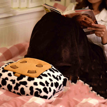 Electric Heating Warm Feet Shoes Girl Party Gifts Cute Cow Knee Pad Blanket Cushion Pillow Winter USB Warmer Foot Shoes(China (Mainland))