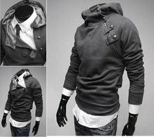 Mens Sexy Slim Fit Hooded Hoodies Jackets Coats Sweatshirt Sweater Fleece 3102(China (Mainland))