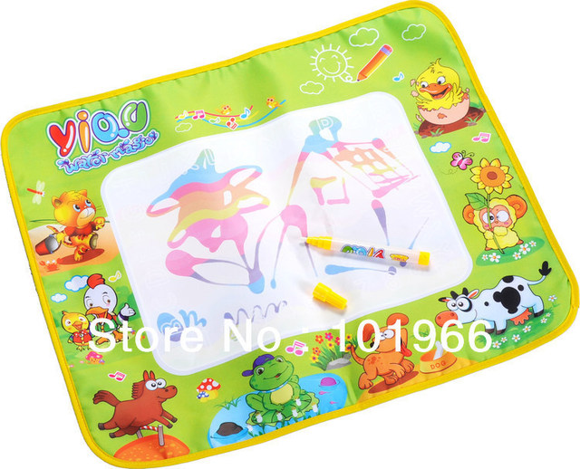 10PCS/Lot Hot Russian Package 58*48cm Animal Style Kids Drawing Mat,Aqua Water Doodle Mat Water Magic Doodle Drawing Toys