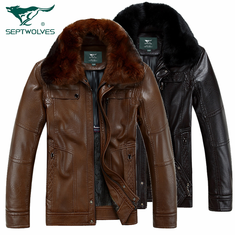 Free shipping  Men genuine new winter plus velvet thick warm fur collar short style Rex sheepskin Genuine Leather Jacket , M-3XLОдежда и ак�е��уары<br><br><br>Aliexpress