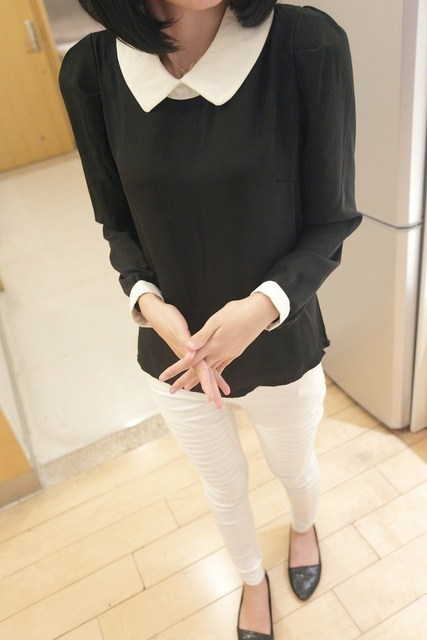 2013 spring and summer peter pan collar lace hot-selling ol air conditioning shirt women's