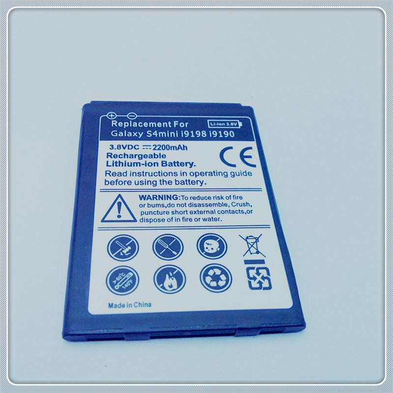 2200mAh High Quality Mobile Phone Replacement Battery For Samsung GALAXY S4 SIV mini i9190 i9192 S4mini ( B500BE B600AE )(China (Mainland))
