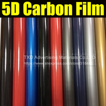 Buy 30X152CM/Lot Premium Ultra Glossy 5D carbon fiber Sticker New Car Styling 5D Carbon Fiber Vinyl Film Waterproof Sticker for $7.99 in AliExpress store