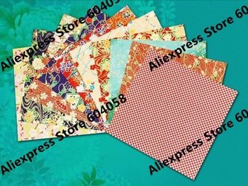 80pcs/lot Eighth size Chiyogami Yuzen paper for Crafts,Scrapbooking,origami,finger play 14x14cm for Japanese/Japan