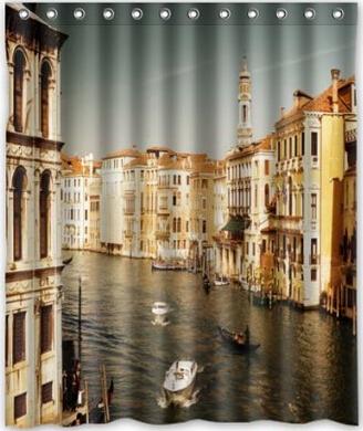 "Custom It Venice Italy Mildew-Resistant Antibacterial Waterproof Shower Curtain 60"" x 72""(China (Mainland))"
