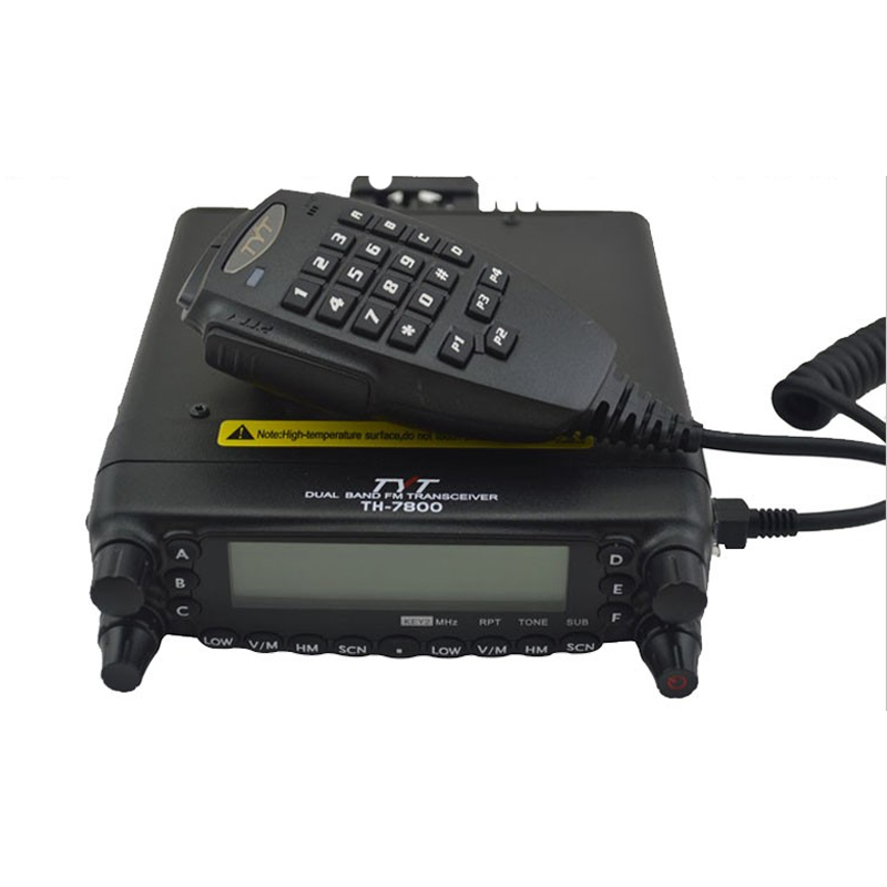 Newest Original TYT TH-7800 Dual Display Cross Band VHF UHF Car Truck Mobile Radio Transceiver with USB Cable and Software(China (Mainland))