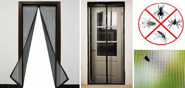 Magic mesh magnetic screen door asotv free screen door for French door magnetic screen