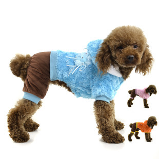 2015 New Fashion Rose Crystal velvet pet clothes winter puppy coat pet dog clothes(China (Mainland))