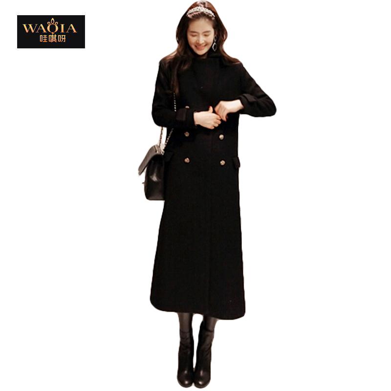 High quality 2014 New fashion Autumn Winter wool blends casual Super long  Women coat Winter jacket women plus sizeОдежда и ак�е��уары<br><br><br>Aliexpress
