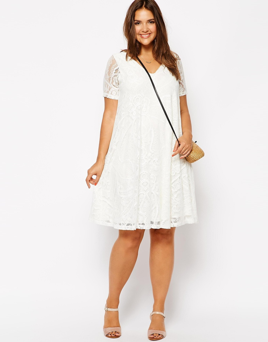 Womens sexy v-neck short sleeve white spring lace dress hollow out design plus size dress big size 5xl 6xl casual dress(China (Mainland))