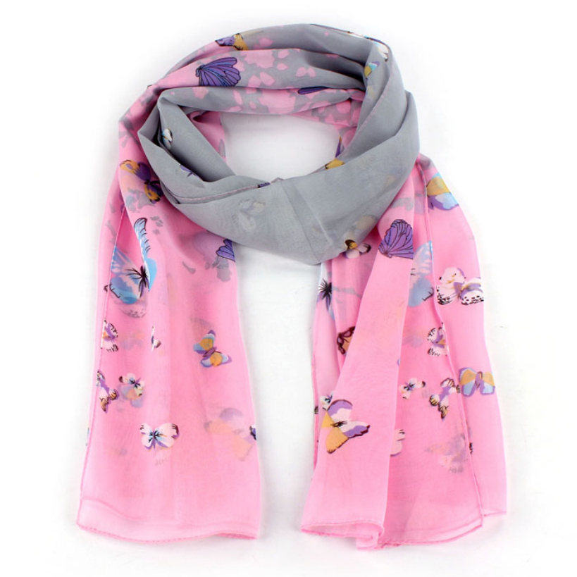 Amazing Fashion 1PC Women Chiffon Soft Scarves Long Wraps Shawl Butterfly Scarf New Arrival Одежда и ак�е��уары<br><br><br>Aliexpress