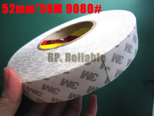 Buy 1x 52mm *50M 3M 9080 Double Sided Adhesive Tape Industrial Using, LED strip, Auto Display Panel, PCB Bond for $44.64 in AliExpress store
