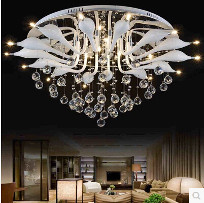 lampadari fan : Hot modern crystal chandelier home lighting LED chandelier ceiling fan ...