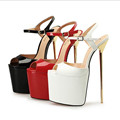 NoEnName Null Platform Extreme High Heels Women Shoes Sexy Fetish High Heels Men Ankle Strap Stilettos