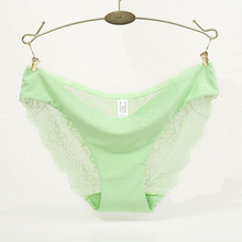 Hot sale! l women's sexy lace panties seamless cotton breathable panty Hollow briefs Plus Size girl underwear(China (Mainland))