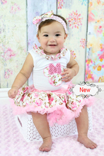 2016 autumn-summer newborn babys floral pettiskirt quality lace trimed 70/80  christmas festival wear for cute daughter(China (Mainland))