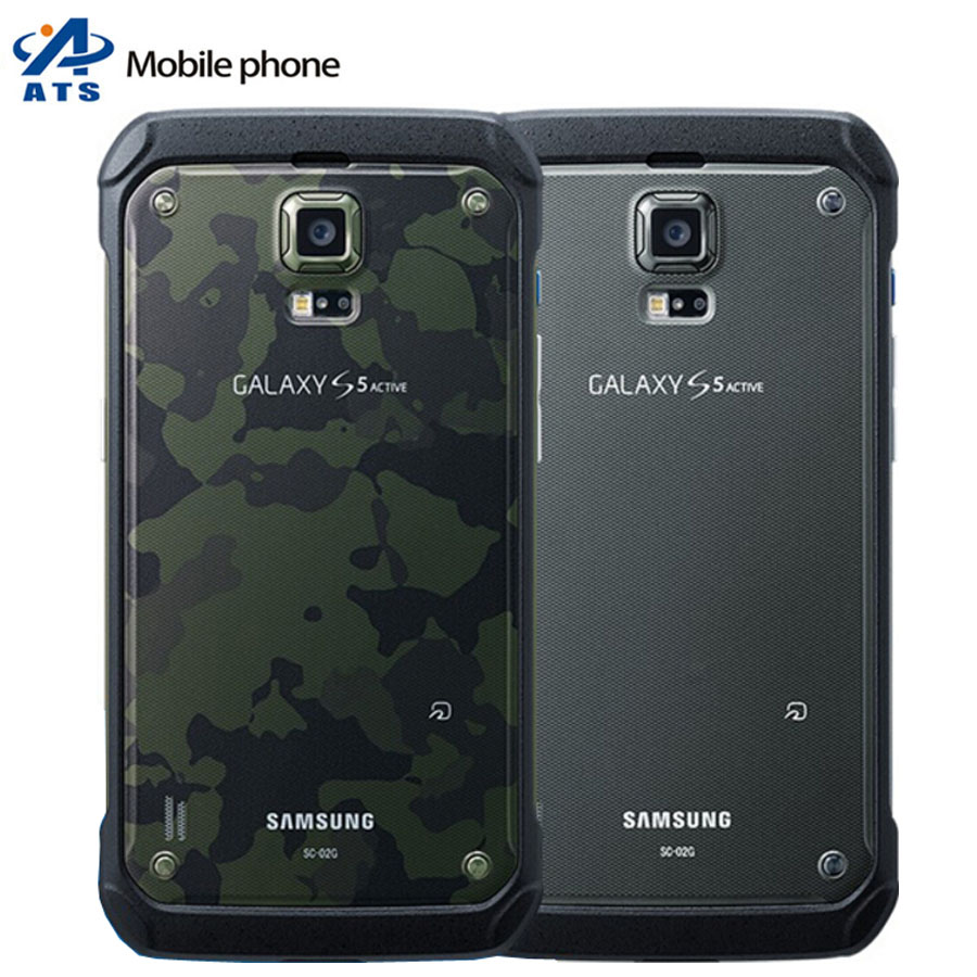"""Original Samsung Galaxy S5 Active G870 Mobile Phone Quad-Core 5.1"""" Touch Screen 16MP Camera GALAXY S5 Active cell phone(China (Mainland))"""
