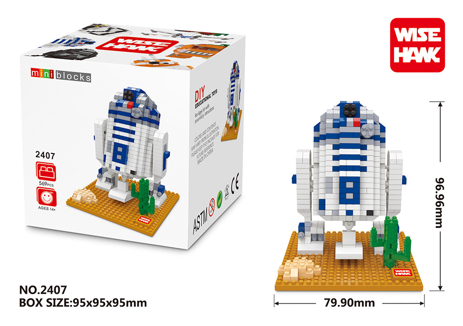 Wisehawk Star wars Blocks R2-D2 Nanoblocks Yoda 3D DIY Building Toys Bricks Juguetes Minfigure Gifts Action for Kids Toys 2404<br><br>Aliexpress