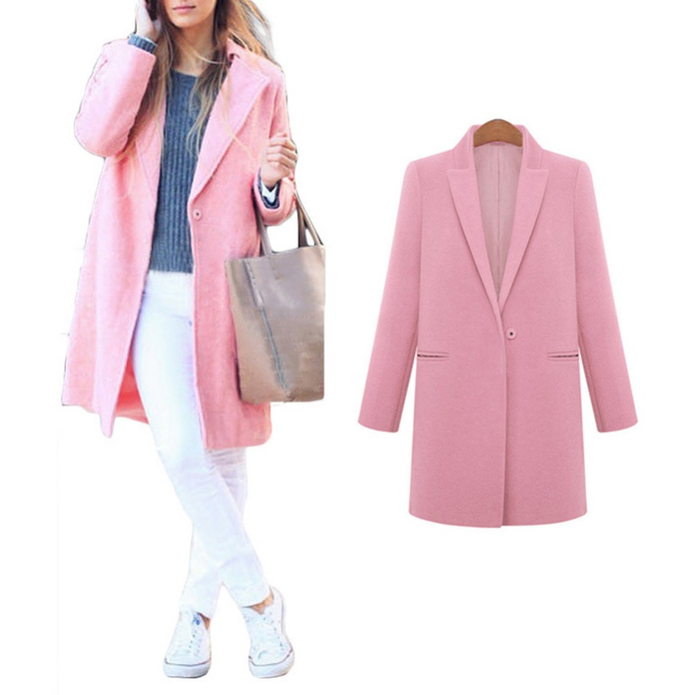 Womens Warm Winter Fitted Trench Coat Lady Lapel Slim Long Jacket OuterwearsОдежда и ак�е��уары<br><br><br>Aliexpress