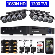 DEFEWAY 8CH 1080N HDMI DVR 1200TVL 720P HD Outdoor Security Camera System 1TB Hard Drive 8 Channel CCTV DVR Kit AHD Camera Set(China (Mainland))