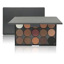 Moda Nu Paleta Da Sombra de Olho Maquiagem 15 Cores Matte Shimmer Pigmento Cosmético compo o Jogo em Tons de TERRA Da Sombra de Olho # E15 #