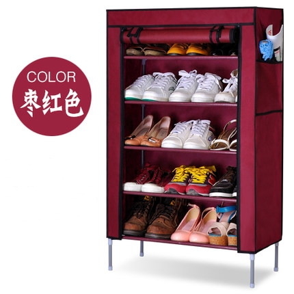 YoHere 6 layer thickening non-woven shoe racks dust shelf creative combination shoes storage cabinet(China (Mainland))