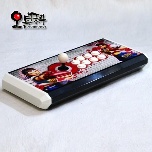 White Sakura Excellence All Sanwa Original Long ABS Case Street fighter USB fight stick arcade stick(China (Mainland))