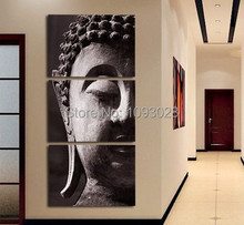 Buy 3 Panel Wall Art Religion Buddha Oil Painting Canvas Framed Room Panels Home Modern Decoration art picture Framed) for $42.78 in AliExpress store