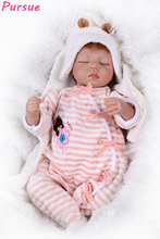 Buy Pursue 20 inchs Silicone Reborn Soft Vinyl Doll Reborn Babies Adora Doll Girls bebe reborn menina de silicone menina 53cm