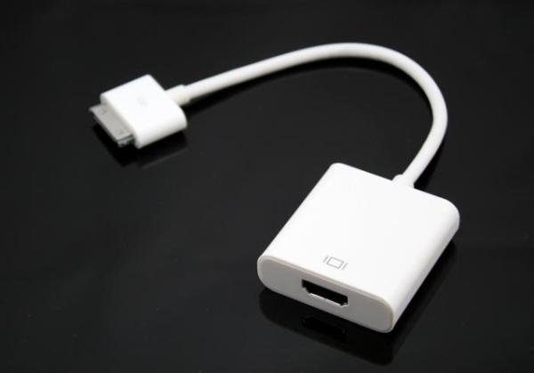 HDMI Cable Adapter for iPad2,iPad 1, iPhone 4, iPhone 3G/3GS, iPod Touch 4 Free Shipping