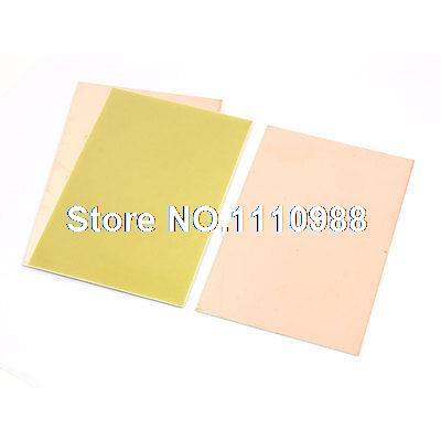 Rectangle FR4 Copper Clad Laminate PCB Printed Circuit Board 10x15cm 3pcs(China (Mainland))