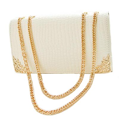 New European Fashion Crocodile Shoulder Bags Vintage Style Leather Women Chain Messenger Bags Crossbody Bolsas
