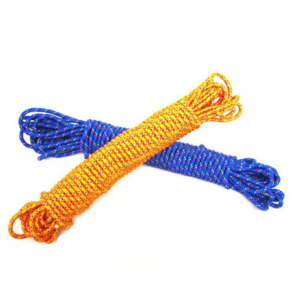 8MM diameter outdoor climbing rope military parachute lifesaving survival escape rope safety rope(China (Mainland))