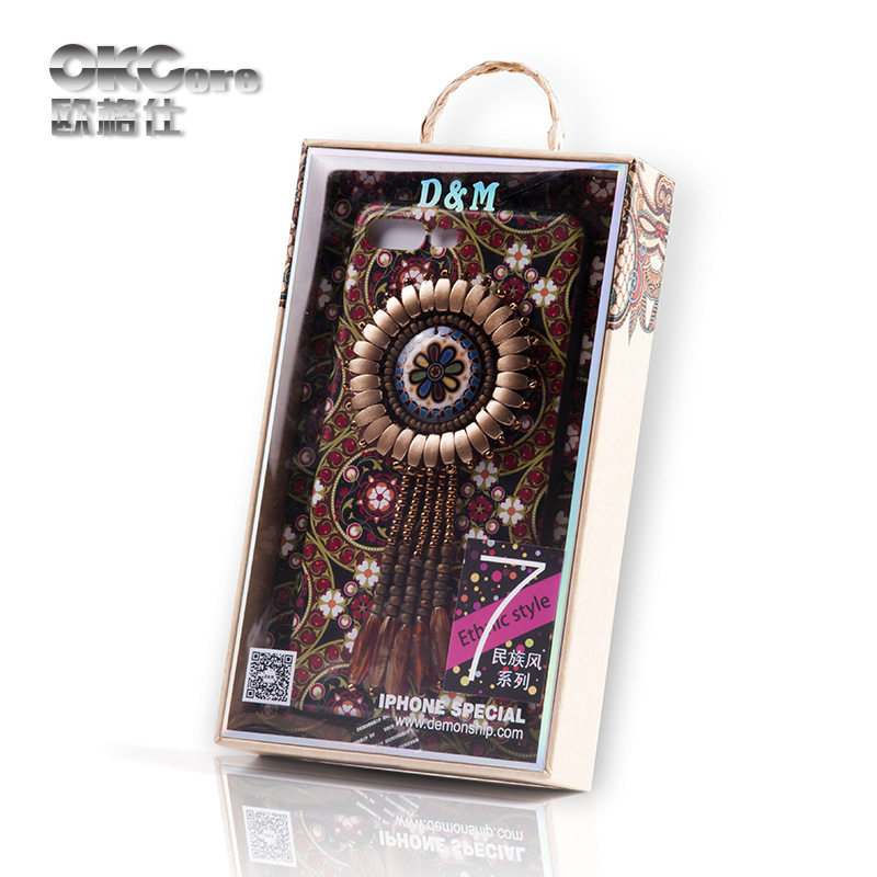 OKCore Ethnic style Series of Handmade High-end Personalized Rhinestone Mobile phone Protection cover case for iPhone 6 6s Plus(China (Mainland))