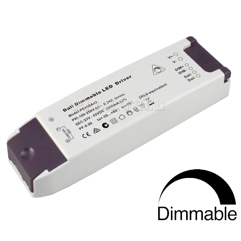 (10pcs/lot) DALI/ 0/1-10V / PWM/ 0-100K resistor 4in1 dimming constant current 36-64V 700mA 44.8W dimmable LED driver(China (Mainland))