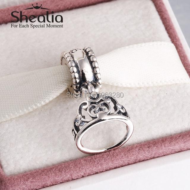 Весна золушка тиара мотаться подвески-талисманы подвески 925 чистое серебро ювелирные изделия для женщины подходит своими руками браслет SH0630