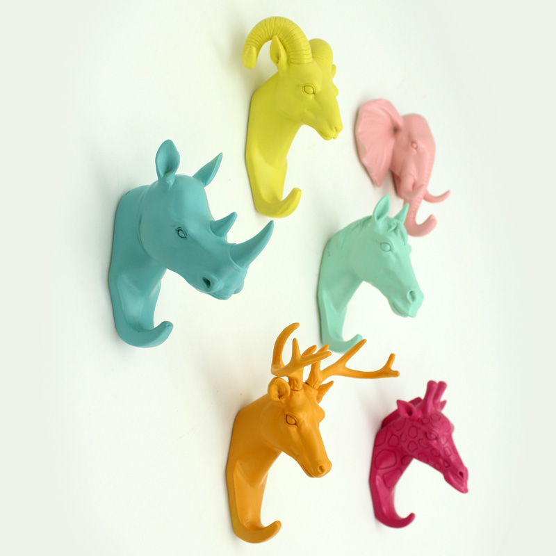 Compre cabe a animal da resina artesanato - Tete animaux mural ...