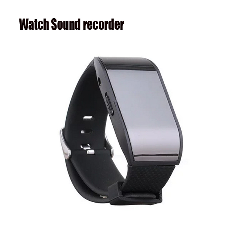 Professional Watch Digital Voice Recorder Wearable Wristband 8GB Hidden Voice Recorder MP3 Sound Dictaphones USB Audio Recorder(China (Mainland))