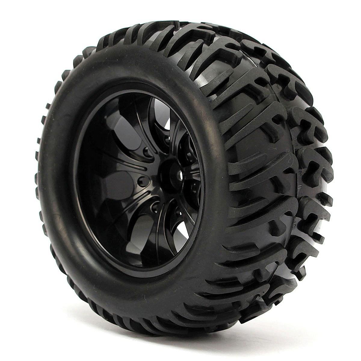 4PCS 12mm Racing Wheel Rim & Tires Redcat HSP 1:10 Monster truck RC On-Road Car Parts 12mm Hub 88005(China (Mainland))