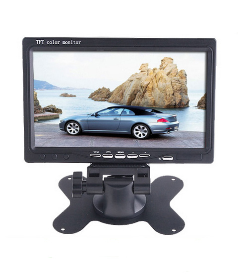 """7"""" inch TFT LCD LED Backlight Car RearView Headrest Monitor with 2 Video input Fit Car Parking Assistance System(China (Mainland))"""